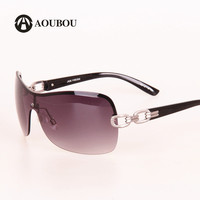 Vintage Rimless Goggle Sunglasses Women Brand Design Alloy Chain Gold Frame Lady Glasses Silver Lunette De Soleil AS012