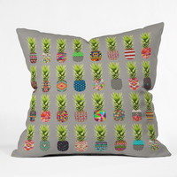 Bianca Green Pineapple Party Throw Pillow