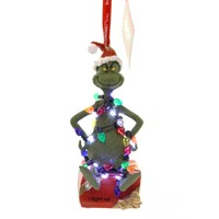 Holiday Ornaments GRINCH WRAPPED IN LIGHTS Dr Seuss Department 56 Lights 6000308