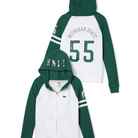 Michigan State Full-Zip Hoodie - PINK - Victoria's Secret
