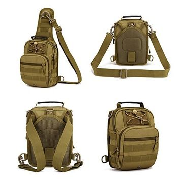 Protector Plus Tactical Sling Pack Backpack Military Shoulder Chest Bag