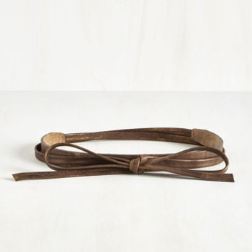 Grace of Wraps Belt in Bronze by ModCloth