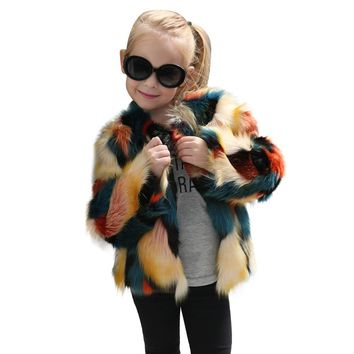 Haute Kids Faux Fur Coat Jacket