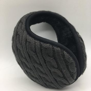 Winter Warmers Earmuffs Men Women Solid knitted Earmuff