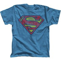 Superman Basic Logo Big Men's Tee Shirt - Walmart.com