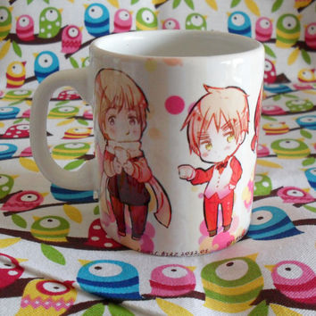 Cute Hetalia Ceramic Mug Coffee Tea Cup Unique Anime Chibi Russia France USA