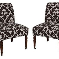 One Kings Lane - Madeline Stuart - Victorian Slipper Chairs, Pair