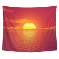 Tapestry (Amazing Sunset Over The Water Design)