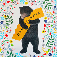 """I Love You California"" Floral Print - 3 Fish Studios"