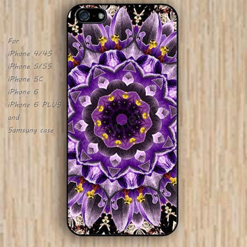 iPhone 5s 6 case purple  mandala colorful phone case iphone case,ipod case,samsung galaxy case available plastic rubber case waterproof B337