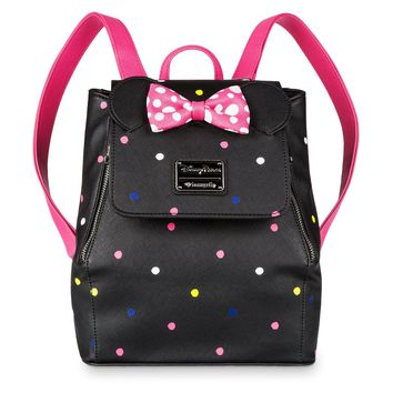 Disney Parks Minnie Mouse Mini Backpack by Loungefly Polka Dot New