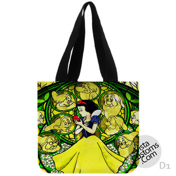 Snow White Disney Princess Glass Painting New Hot, handmade bag, canvas bag, tote bag