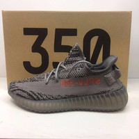 Max sosa 350v2 boost sneakers breathable women shoes Kanye West outdoor athletic shoes men's sports shoes popcorn bottom
