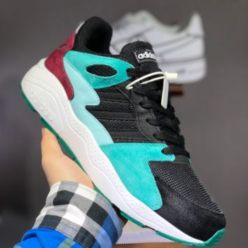 hcxx A1491 Adidas NEO 2019 Fashion Running Shoes Black Blue Red