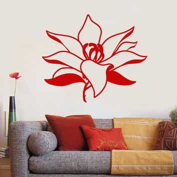 Vinyl Wall Decal Beautiful Asian Lotus Flower Bud Garden Style Stickers Unique Gift (1855ig)