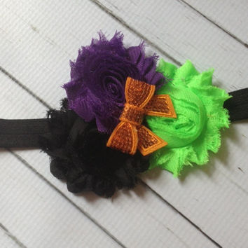 Halloween Headband...Baby Girl Halloween Headband...Baby Headband