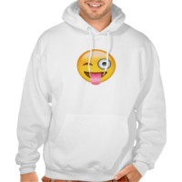 Face With Stuck Out Tongue And Winking Eye Emoji Hooded Sweatshirt