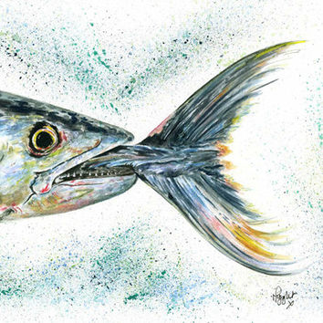 Fish Print from my Rainbow Trout Fish Painting titled 'Catch of the Day'