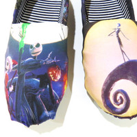 The Nightmare Before Christmas Shoes (Toms, Disney, Tim Burton, Halloween) Men, Women, Kids
