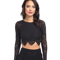 For Love and Lemons Midnight Crop Top