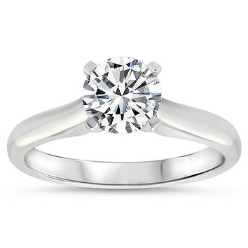 Classic Solitaire Forever One Moissanite Engagement Ring 9.5 mm - Taylor