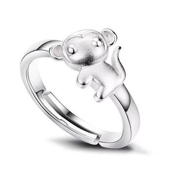 ESBONG New Arrival Jewelry Shiny Stylish Gift 925 Silver Simple Design Diamonds Korean Ring [8380580551]