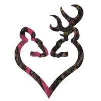 Browning Buck Heart H&H Camo Decal