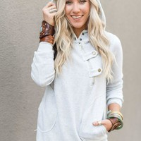 Brooklyn Buttoned Sweatshirt