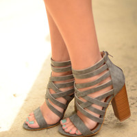 Come My Way Heels- Grey