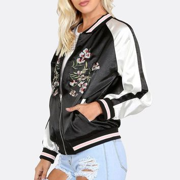 Women Jacket Coat Casual Embroidery