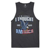 I'm Sorry I Thought This Was America Tank Top in Metal by Rowdy Gentleman