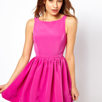 American Apparel Button Back Swing Dress - Pink
