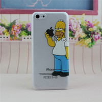 Transparent The Simpsons Homer Simpson Phone Back Cover Case Shell For Apple iPhone 5C