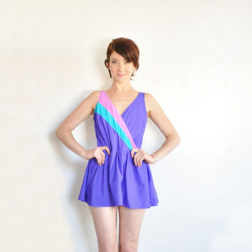 unicorn colored skirted swimsuit . beauty pageant bathing suit .extra large.plus size.xl