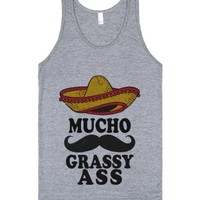 Mucho Grassy Ass-Unisex Athletic Grey Tank