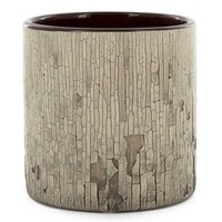 Small Brown Cracked & Chipped Ceramic Cylinder | Shop Hobby Lobby