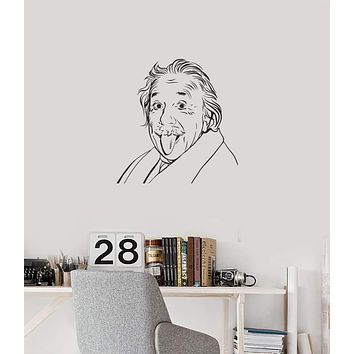 Vinyl Wall Decal Einstein Great Scientist Lab School Physics Interior Stickers Mural (ig5883)