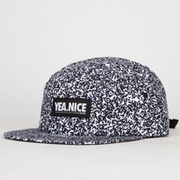 Yea.Nice Static Mens 5 Panel Hat Black/White One Size For Men 22299812501