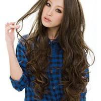 Cool2day Long Classical Curly Dress Party Wig+wig Cap (Model: Jf010577us) (Light Brown)