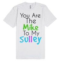 Mike and Sully-Unisex White T-Shirt