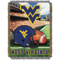 West Virginia Mountaineers NCAA Woven Tapestry Throw (Home Field Advantage) (48x60)