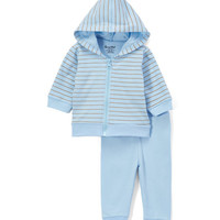 Blue Stripe Hoodie & Pants - Infant