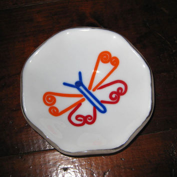 Butterfly Ring Dish, Glass Jewelry Dish, Jewelry Holder, Ring Plate - Butterfly Magic - 239 -2
