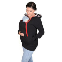 Multifunctional Maternity+Baby+Hoodies Maternity Pregnancy Pregnant Women Hoodies Carry Baby Sweatshirts Mom Zipper Coat