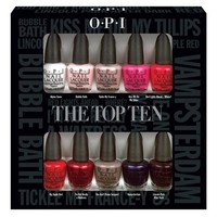 OPI Nail Polish Lacquer - The Top Ten Mini Gift Set