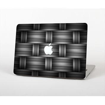 The Black & Gray Woven HD Pattern Skin for the Apple MacBook Pro 13""