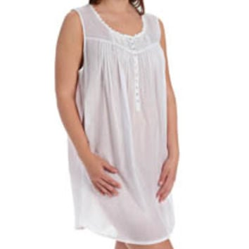 Eileen West 6315885 Solid Plus Size Short Nightgown