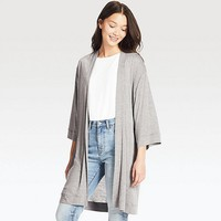 WOMEN LONG-SLEEVE LONG CARDIGAN