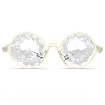 GloFX Clear Kaleidoscope Glasses- Clear