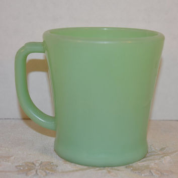 Anchor Hocking Fire-King Jadeite Coffee Cup Vintage Jadeite Green Fire King Mug D-Handle Oven Restaurant Ware Coffee Cup Jadeite Collectible